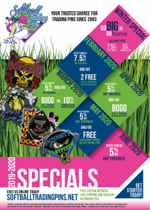 Softball Pin Specials